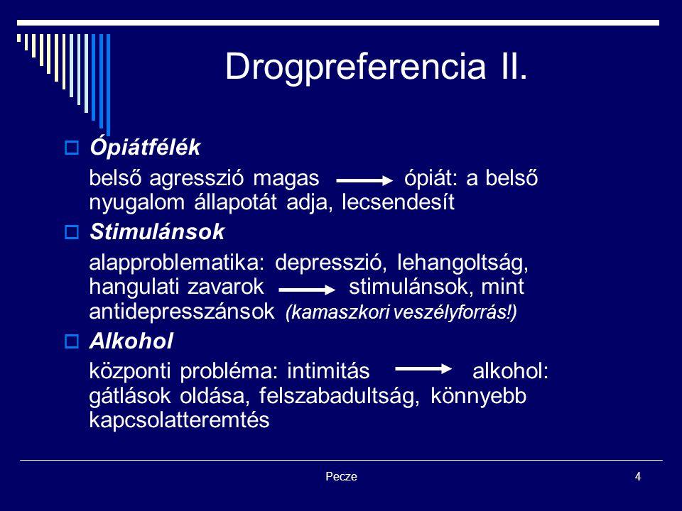 Drogpreferencia II. Ópiátfélék