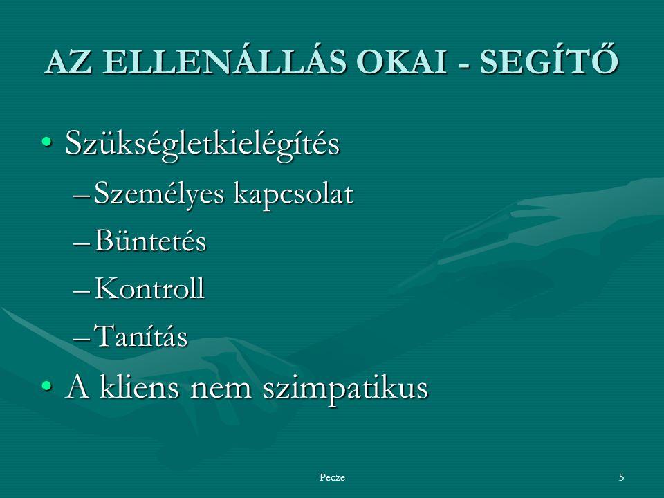 AZ ELLENÁLLÁS OKAI - SEGÍTŐ