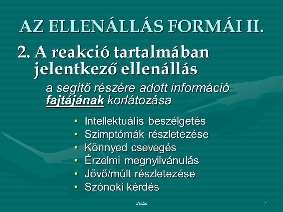 AZ ELLENÁLLÁS FORMÁI II.