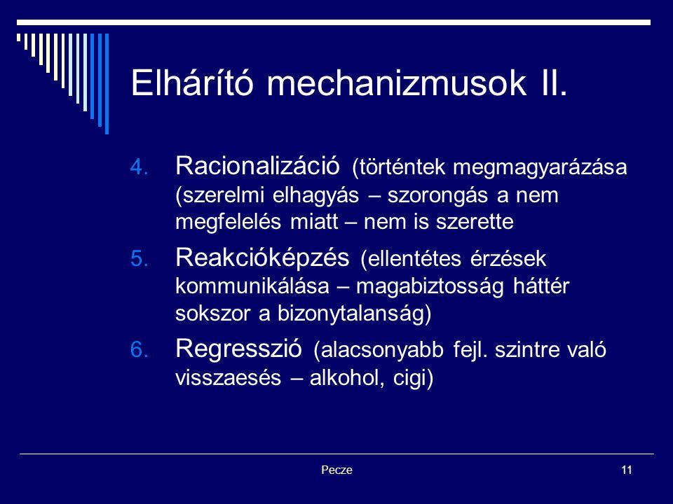 Elhárító mechanizmusok II.