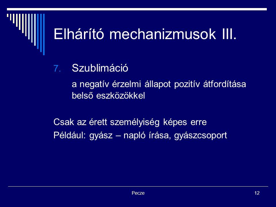 Elhárító mechanizmusok III.