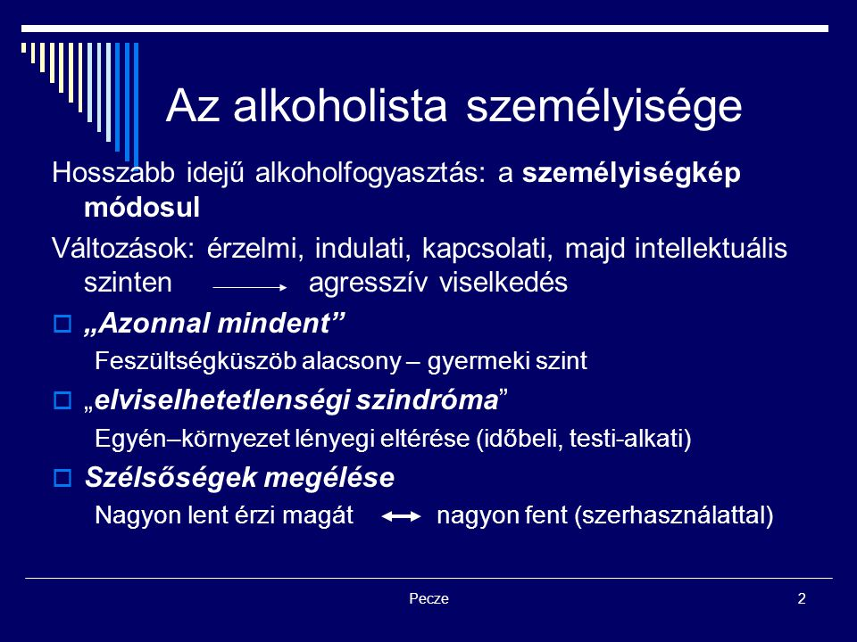 Az alkoholista személyisége