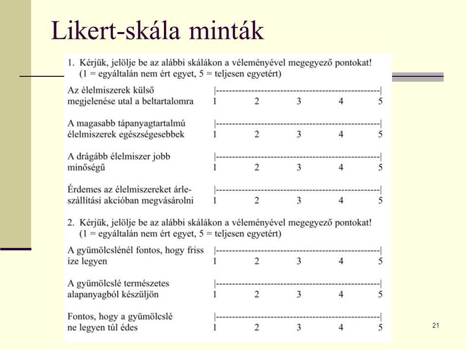 Likert-skála minták