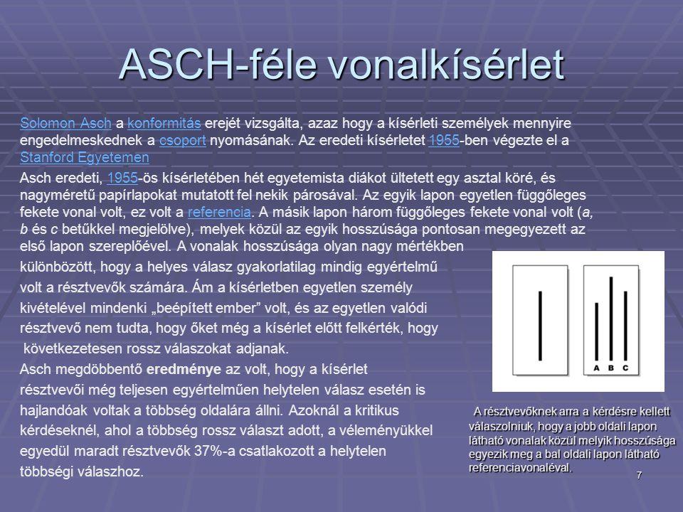 ASCH-féle vonalkísérlet