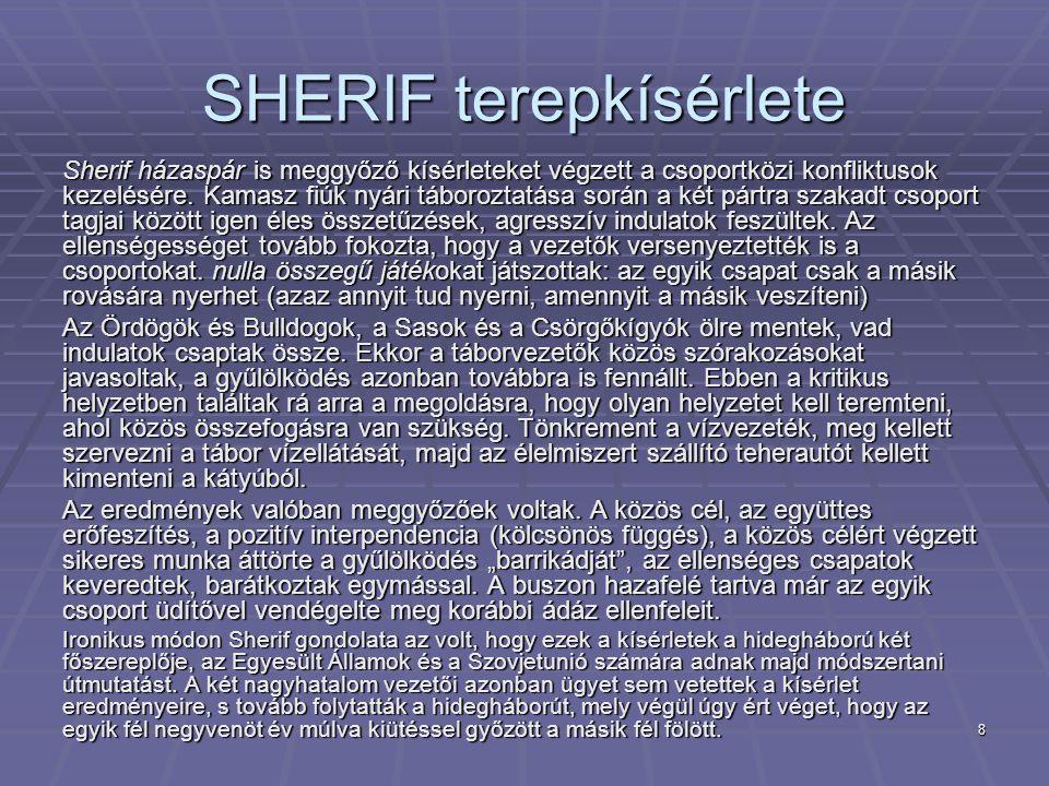 SHERIF terepkísérlete