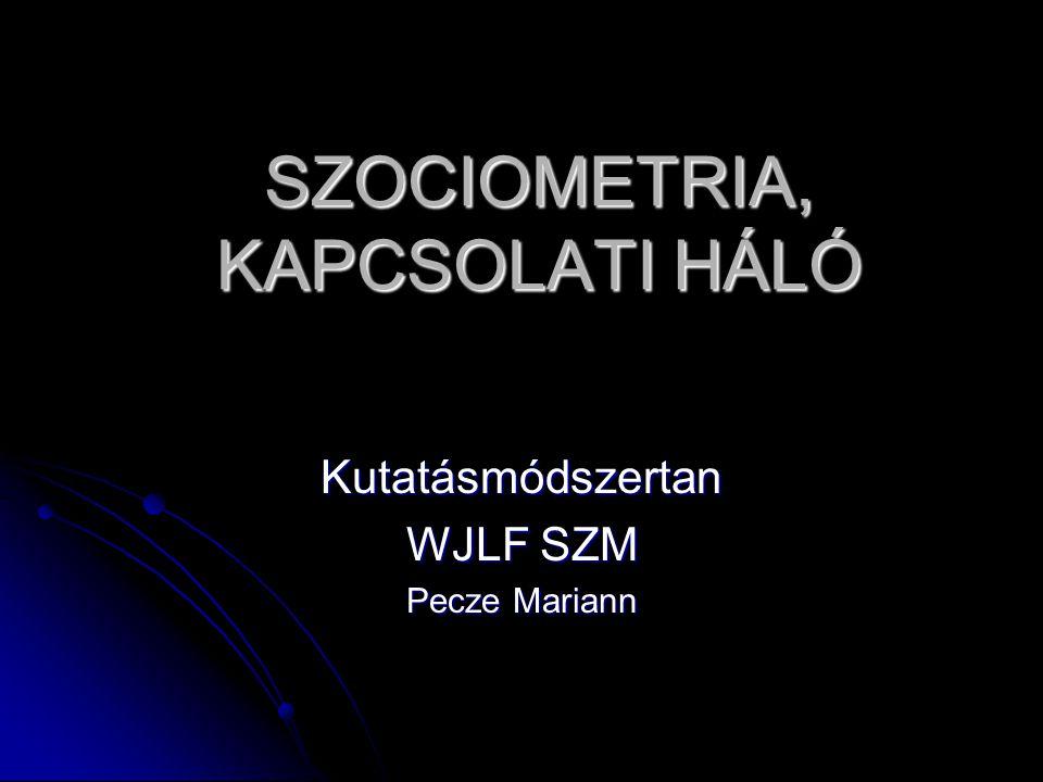 SZOCIOMETRIA, KAPCSOLATI HÁLÓ