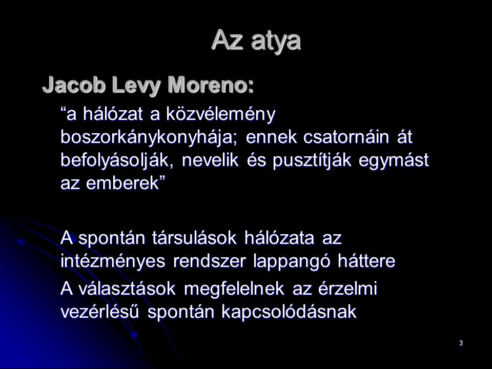 Az atya Jacob Levy Moreno: