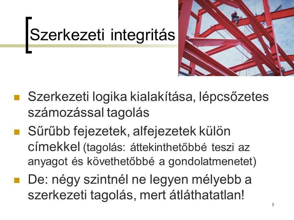 Szerkezeti integritás