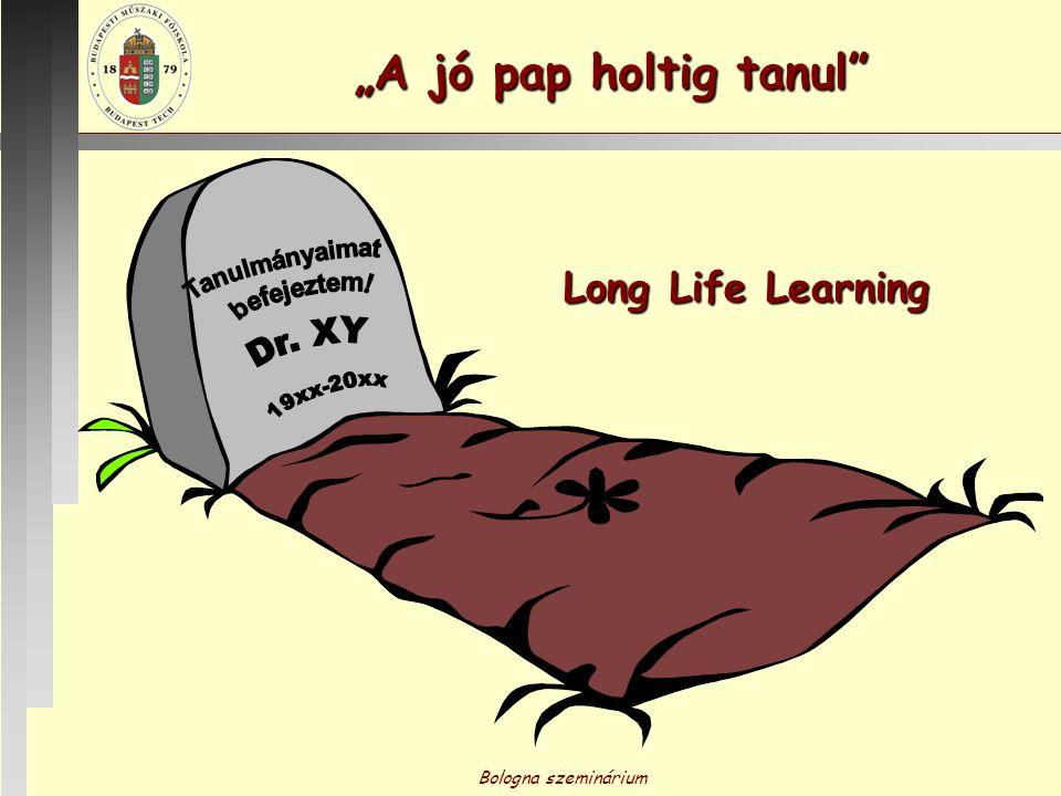 """A jó pap holtig tanul Long Life Learning Tanulmányaimat befejeztem!"