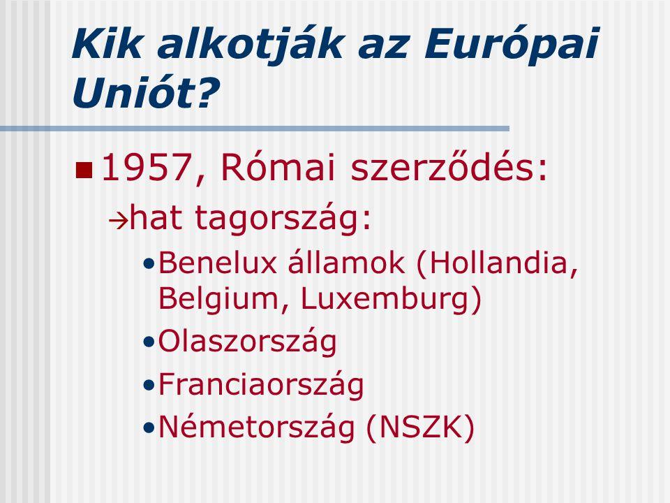 Kik alkotják az Európai Uniót