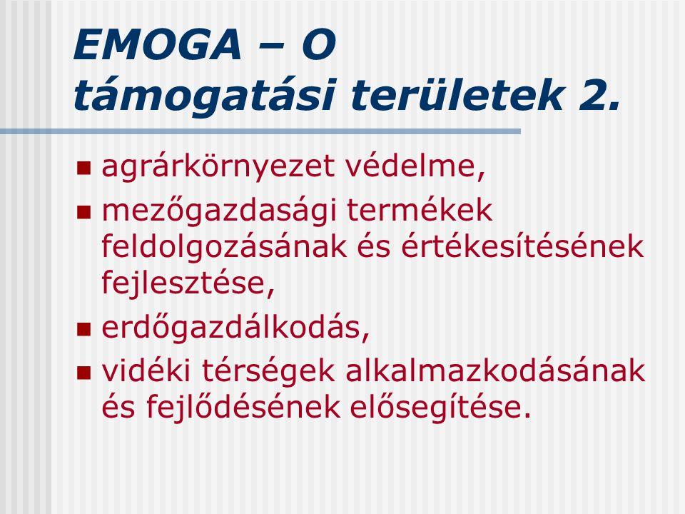 EMOGA – O támogatási területek 2.