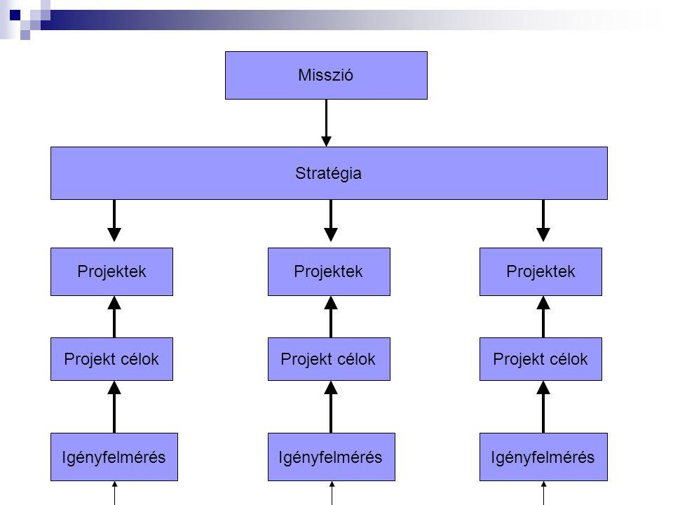 Misszió Stratégia. Projektek. Projekt célok. Igényfelmérés. Projektek. Projekt célok. Igényfelmérés.
