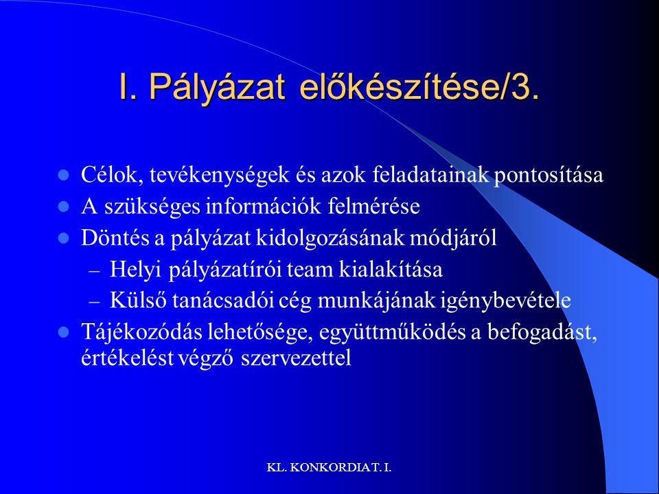 I. Pályázat előkészítése/3.