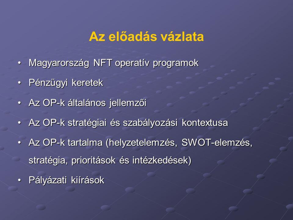 Az előadás vázlata Magyarország NFT operatív programok