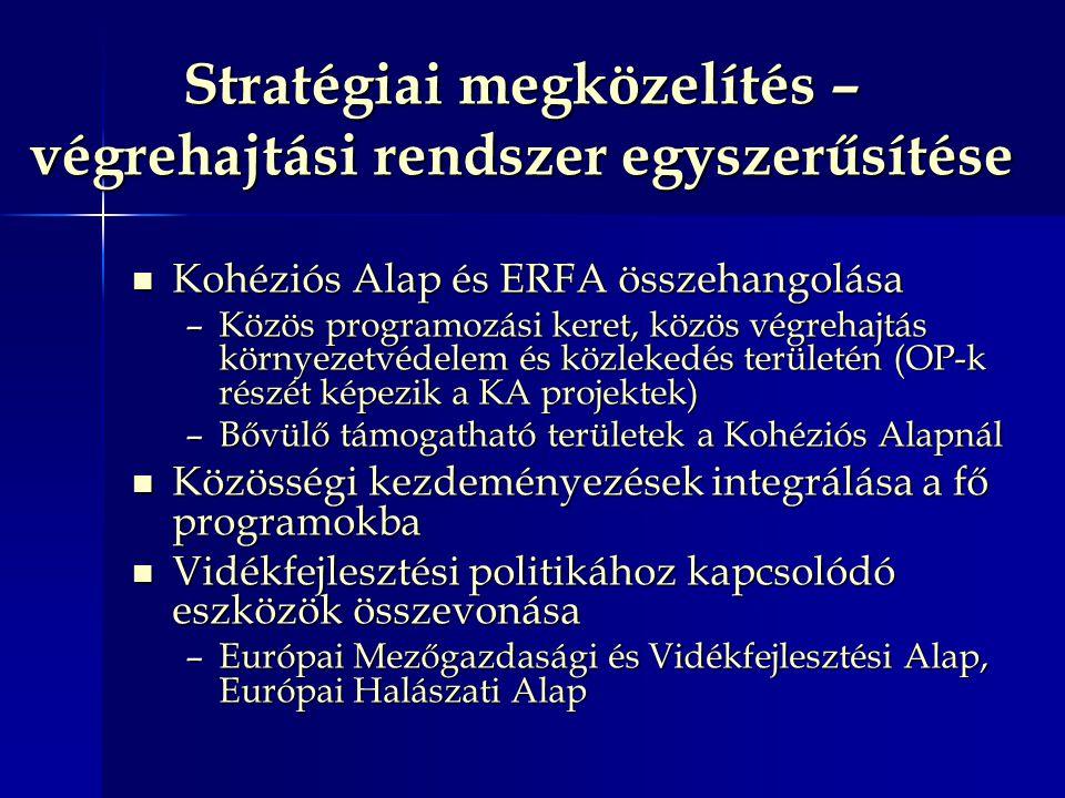 Stratégiai megközelítés – végrehajtási rendszer egyszerűsítése