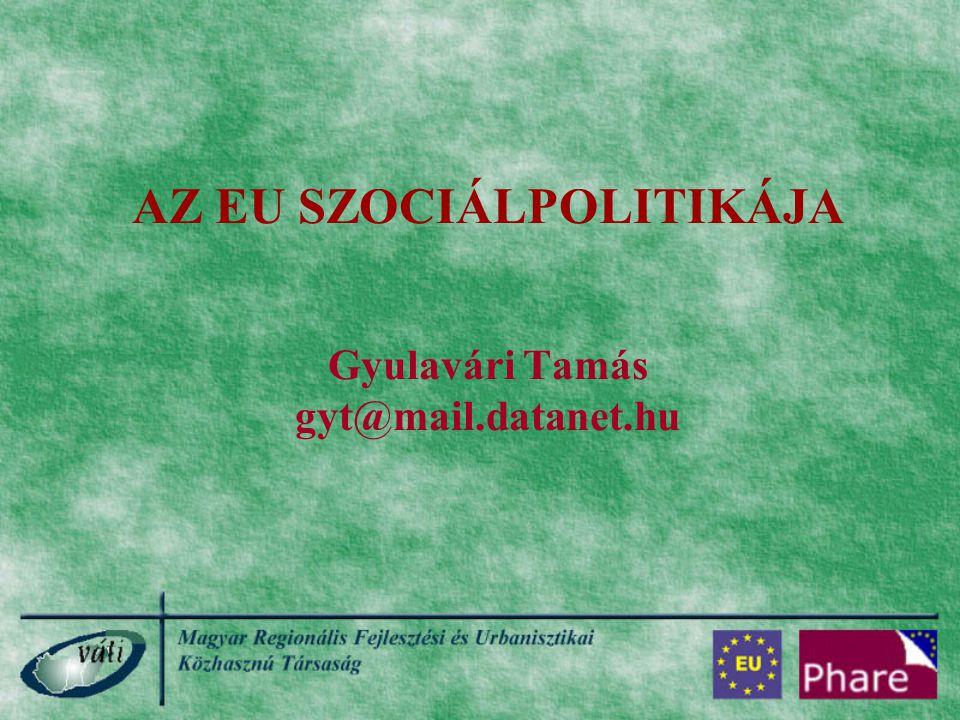 AZ EU SZOCIÁLPOLITIKÁJA Gyulavári Tamás gyt@mail.datanet.hu