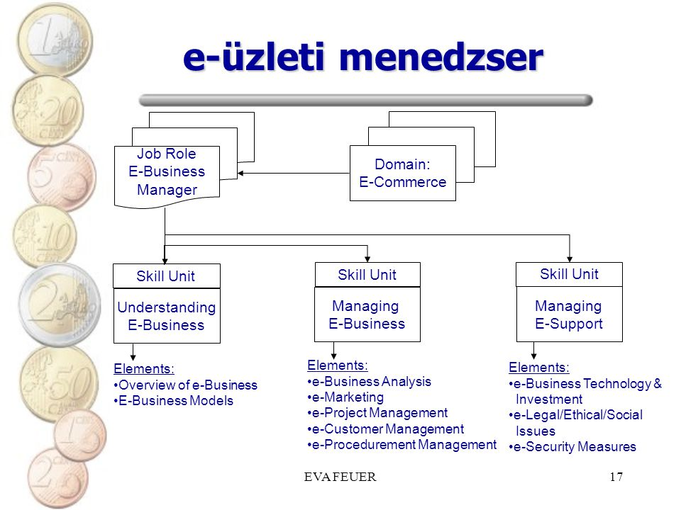 e-üzleti menedzser Job Role E-Business Manager Domain: E-Commerce