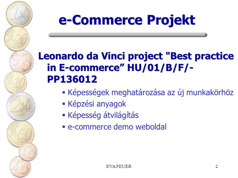 e-Commerce Projekt Leonardo da Vinci project Best practice in E-commerce HU/01/B/F/- PP136012. Képességek meghatározása az új munkakörhöz.