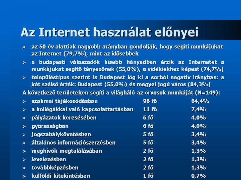 Az Internet használat előnyei