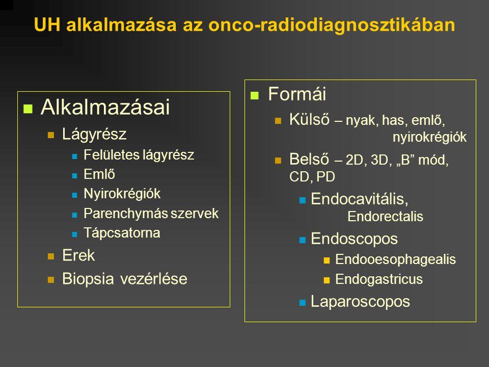 UH alkalmazása az onco-radiodiagnosztikában