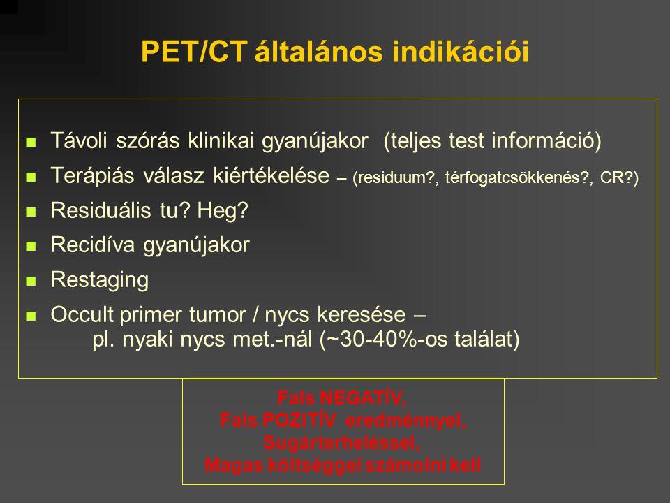 PET/CT általános indikációi
