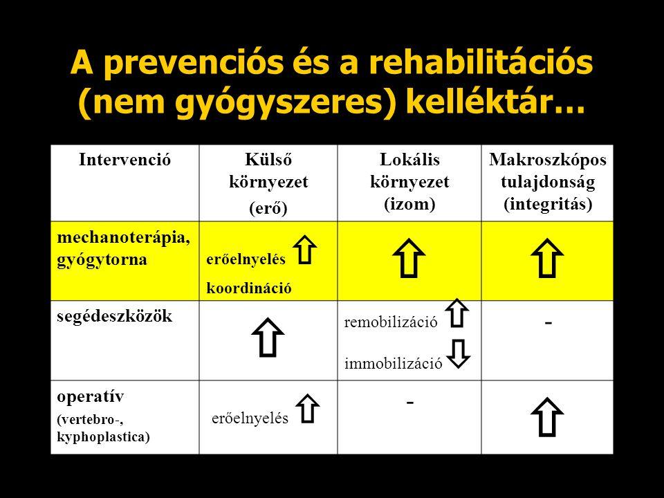 A prevenciós és a rehabilitációs (nem gyógyszeres) kelléktár…