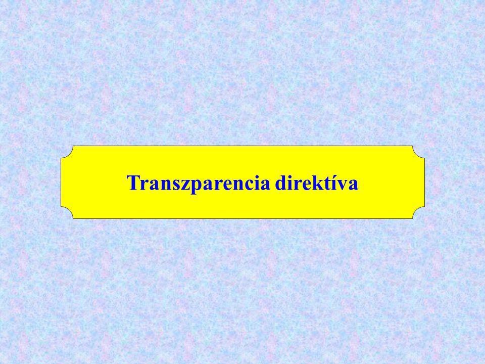 Transzparencia direktíva