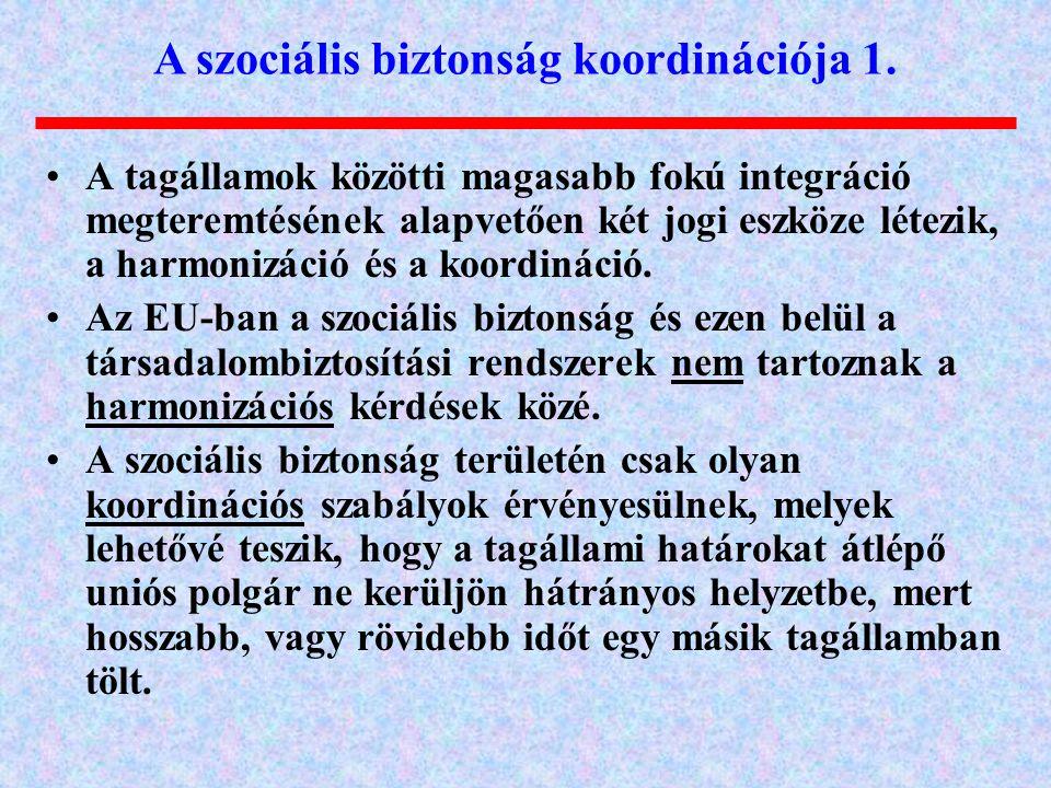 A szociális biztonság koordinációja 1.