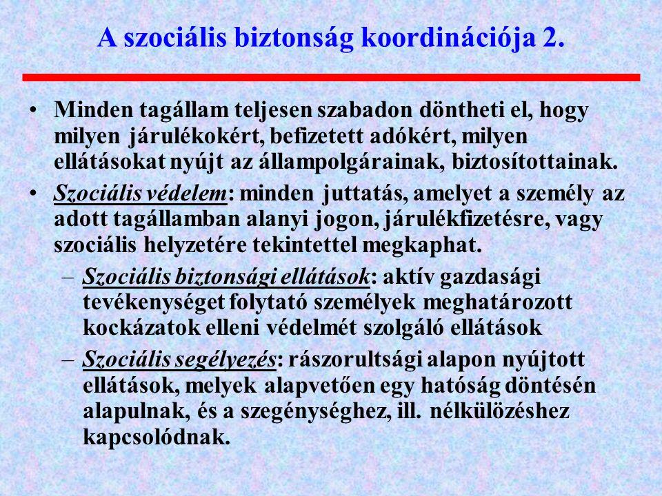 A szociális biztonság koordinációja 2.