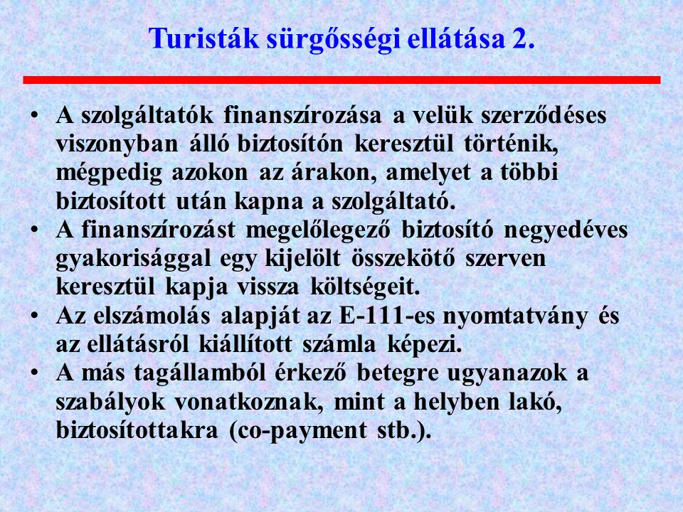 Turisták sürgősségi ellátása 2.