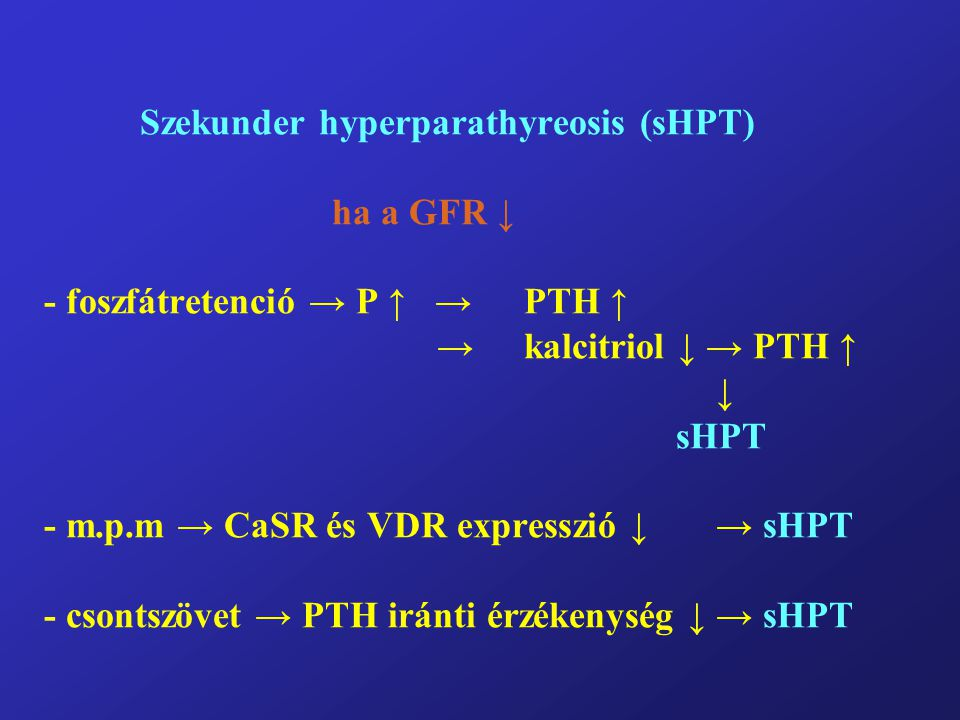 Szekunder hyperparathyreosis (sHPT)