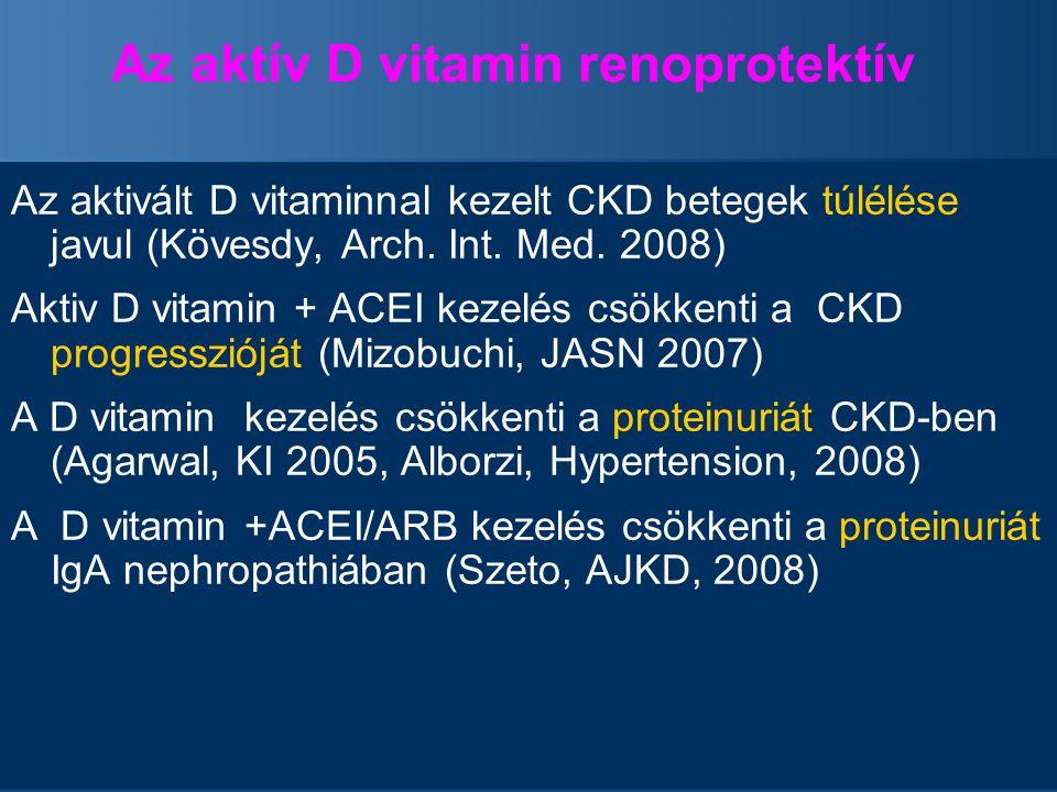 Az aktív D vitamin renoprotektív