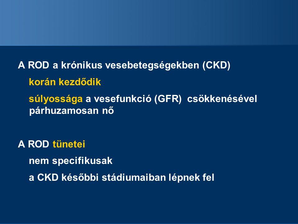 A ROD a krónikus vesebetegségekben (CKD)