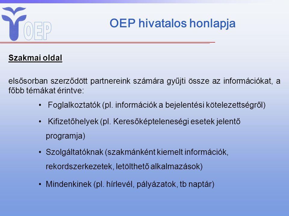 OEP hivatalos honlapja
