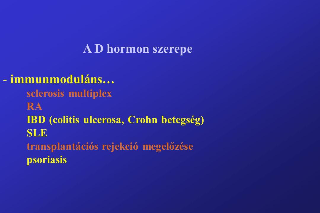 A D hormon szerepe immunmoduláns… sclerosis multiplex RA