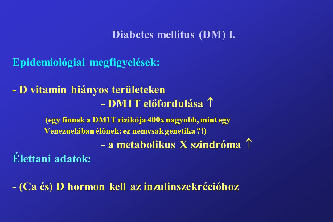 Diabetes mellitus (DM) I