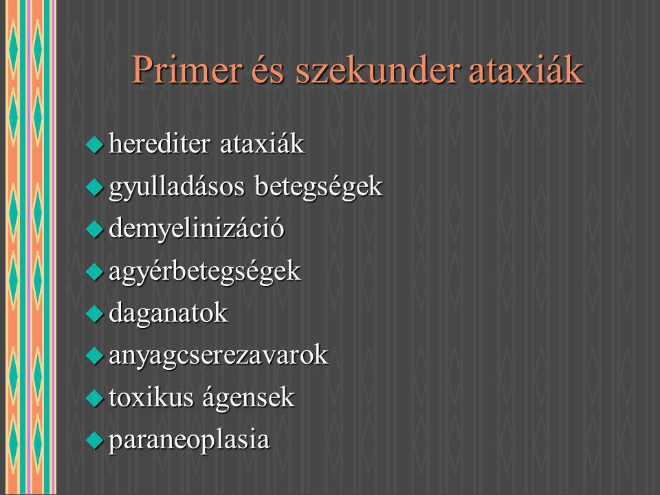 Primer és szekunder ataxiák