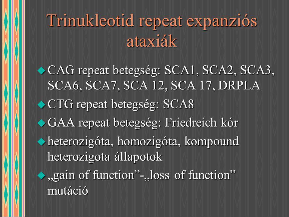 Trinukleotid repeat expanziós ataxiák