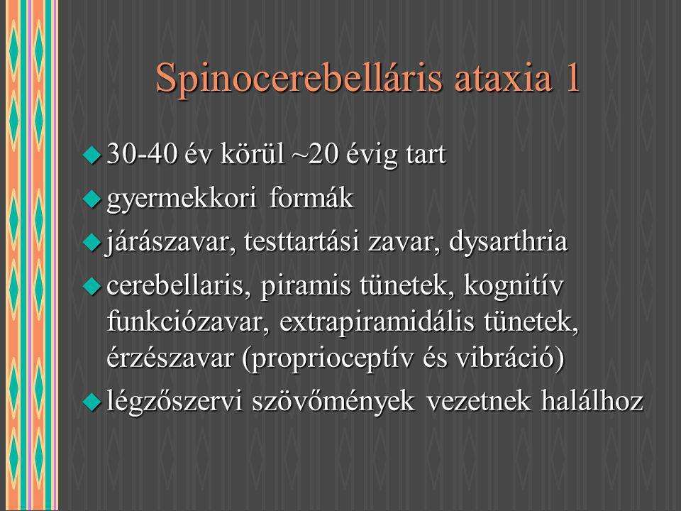 Spinocerebelláris ataxia 1