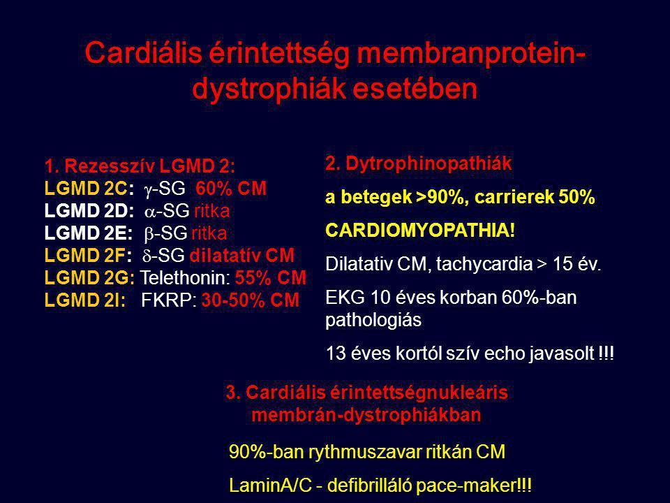 Cardiális érintettség membranprotein-dystrophiák esetében