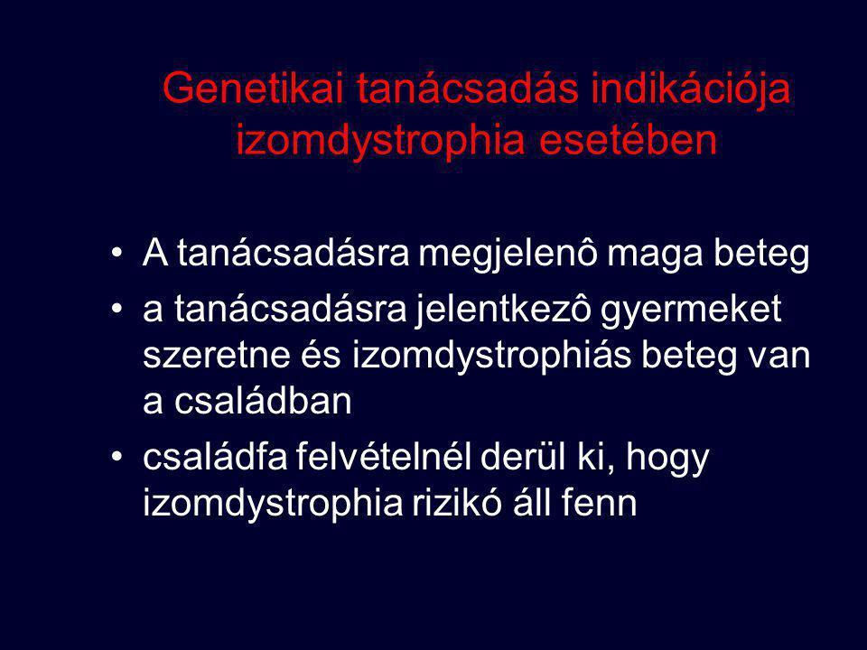 Genetikai tanácsadás indikációja izomdystrophia esetében