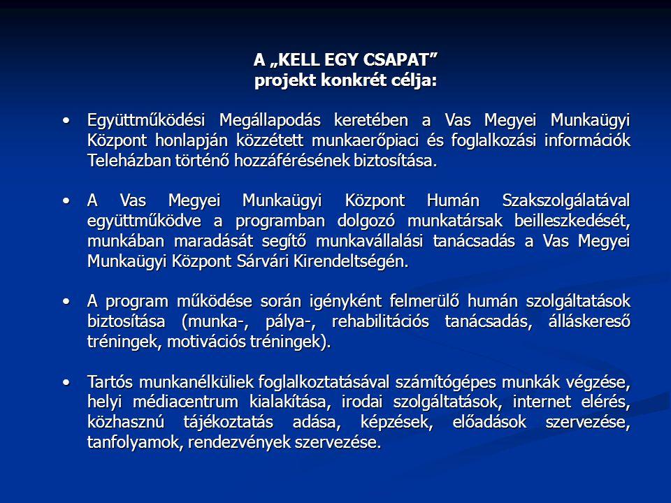 projekt konkrét célja: