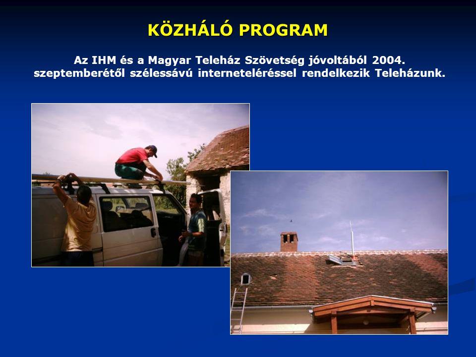 KÖZHÁLÓ PROGRAM Az IHM és a Magyar Teleház Szövetség jóvoltából 2004.