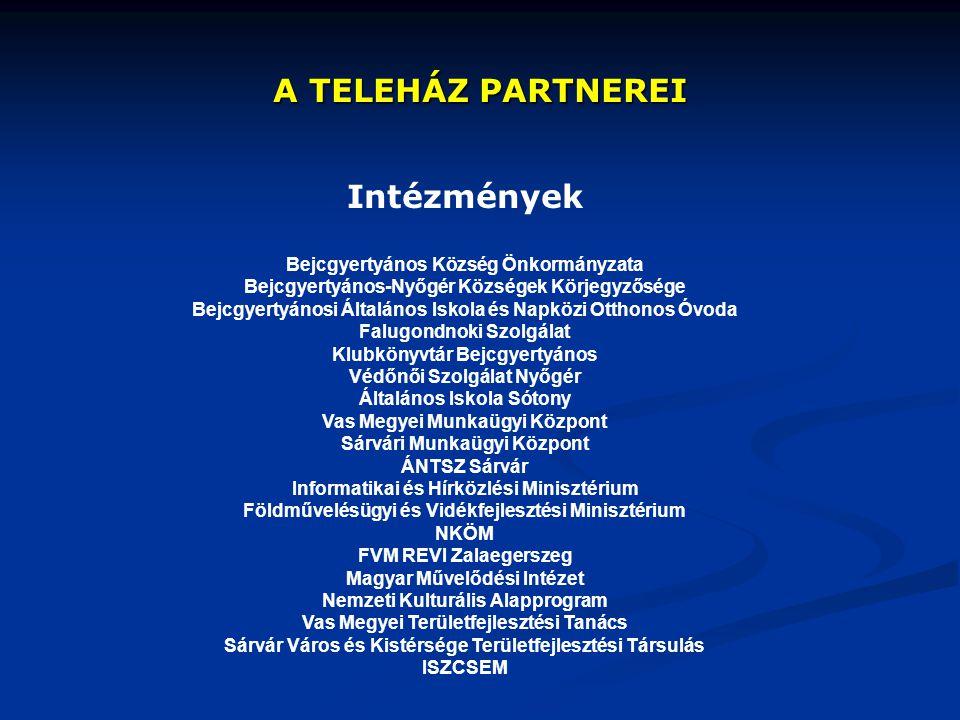 A TELEHÁZ PARTNEREI Intézmények