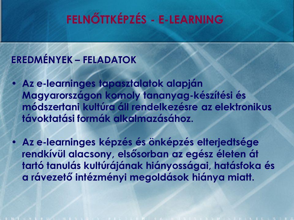 FELNŐTTKÉPZÉS - E-LEARNING