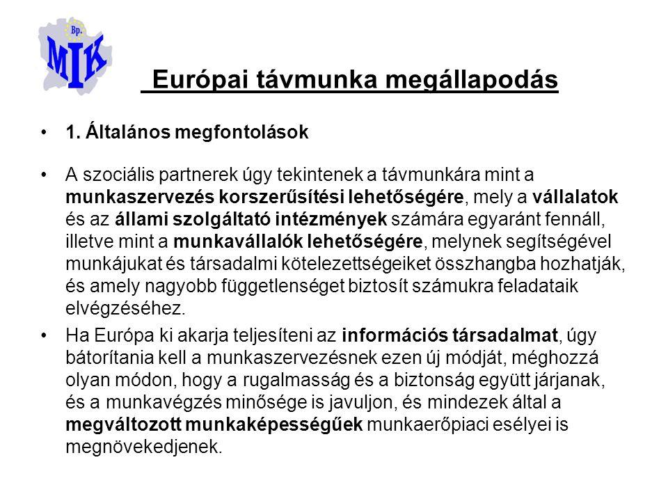 Európai távmunka megállapodás