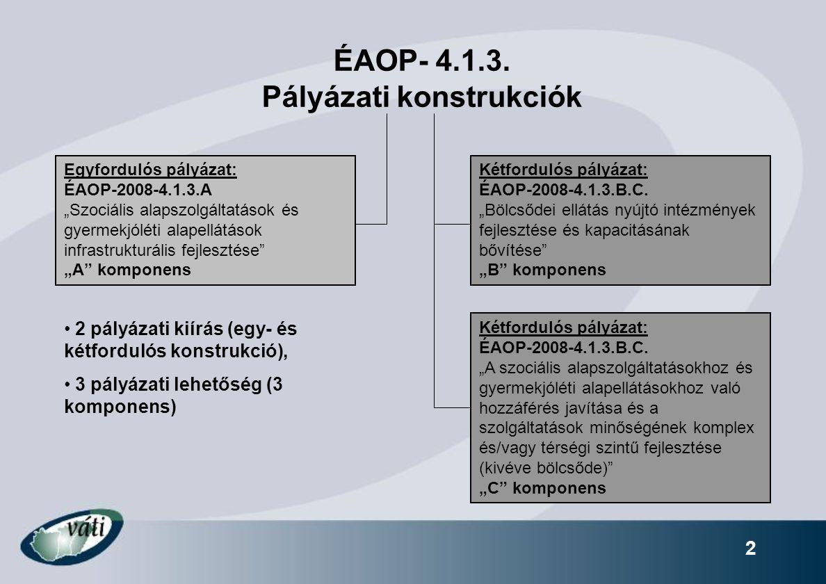 ÉAOP- 4.1.3. Pályázati konstrukciók