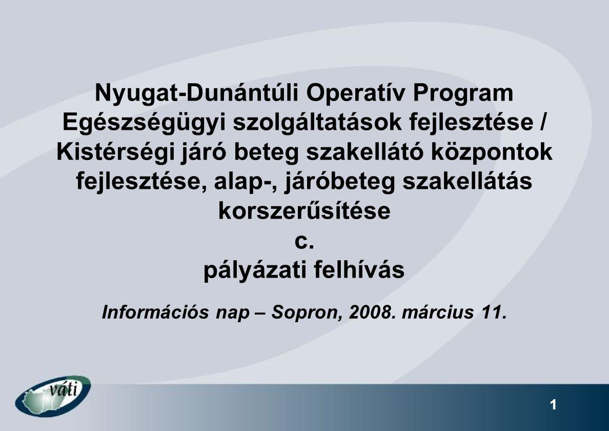 Információs nap – Sopron, 2008. március 11.
