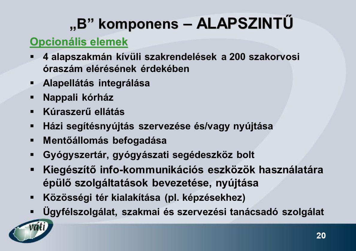 """B komponens – ALAPSZINTŰ"