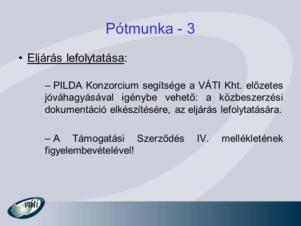 Pótmunka - 3 Eljárás lefolytatása: